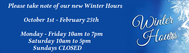 winter hours banner